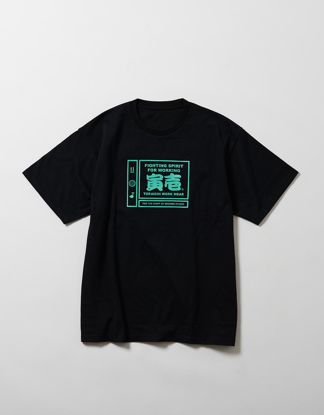 PICTGRAM WORK T-shirts for THE STAFF of ARSHAM STUDIO 1807-618 BLACK