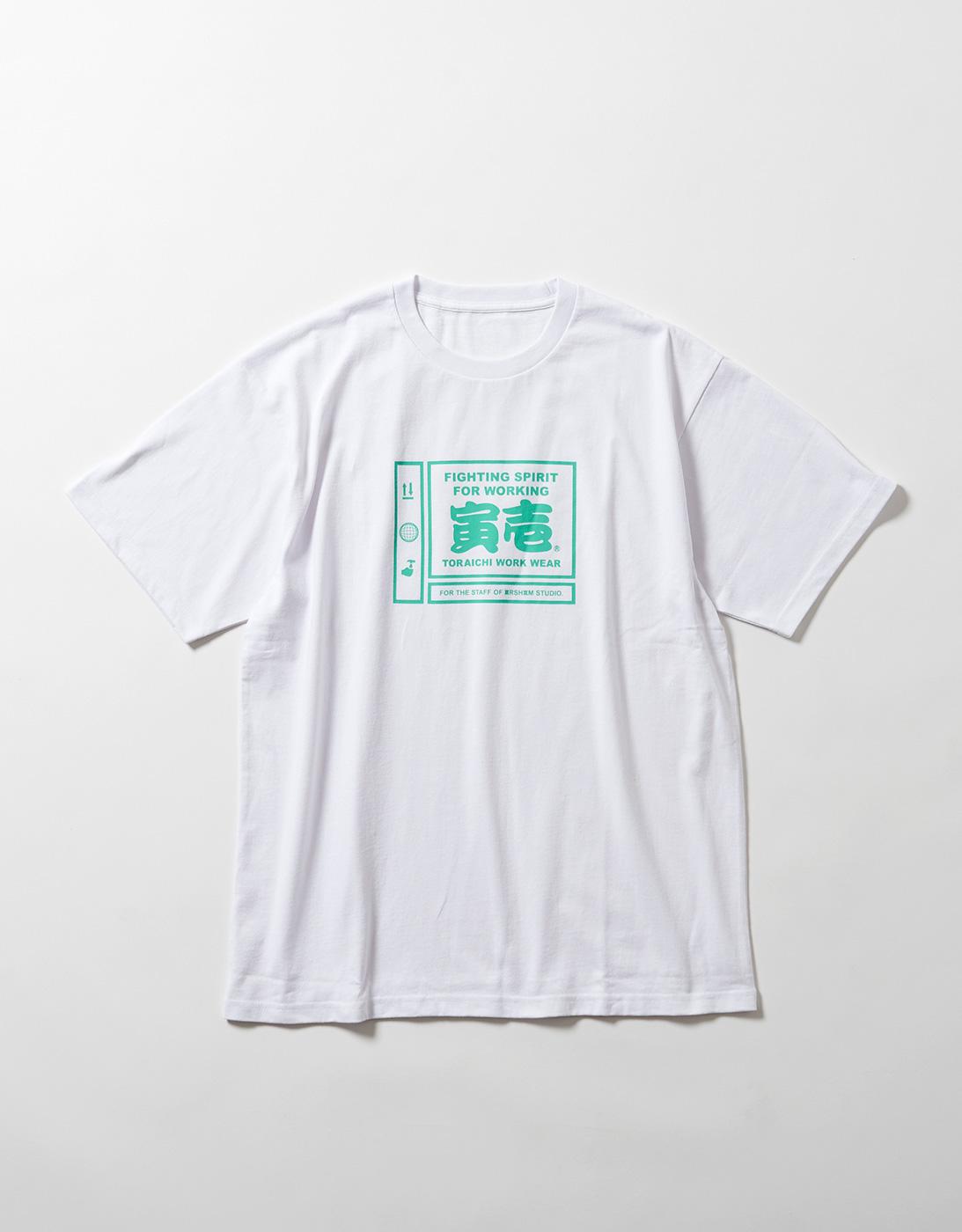 PICTGRAM WORK T-shirts for THE STAFF of ARSHAM STUDIO 1807-618 WHITE