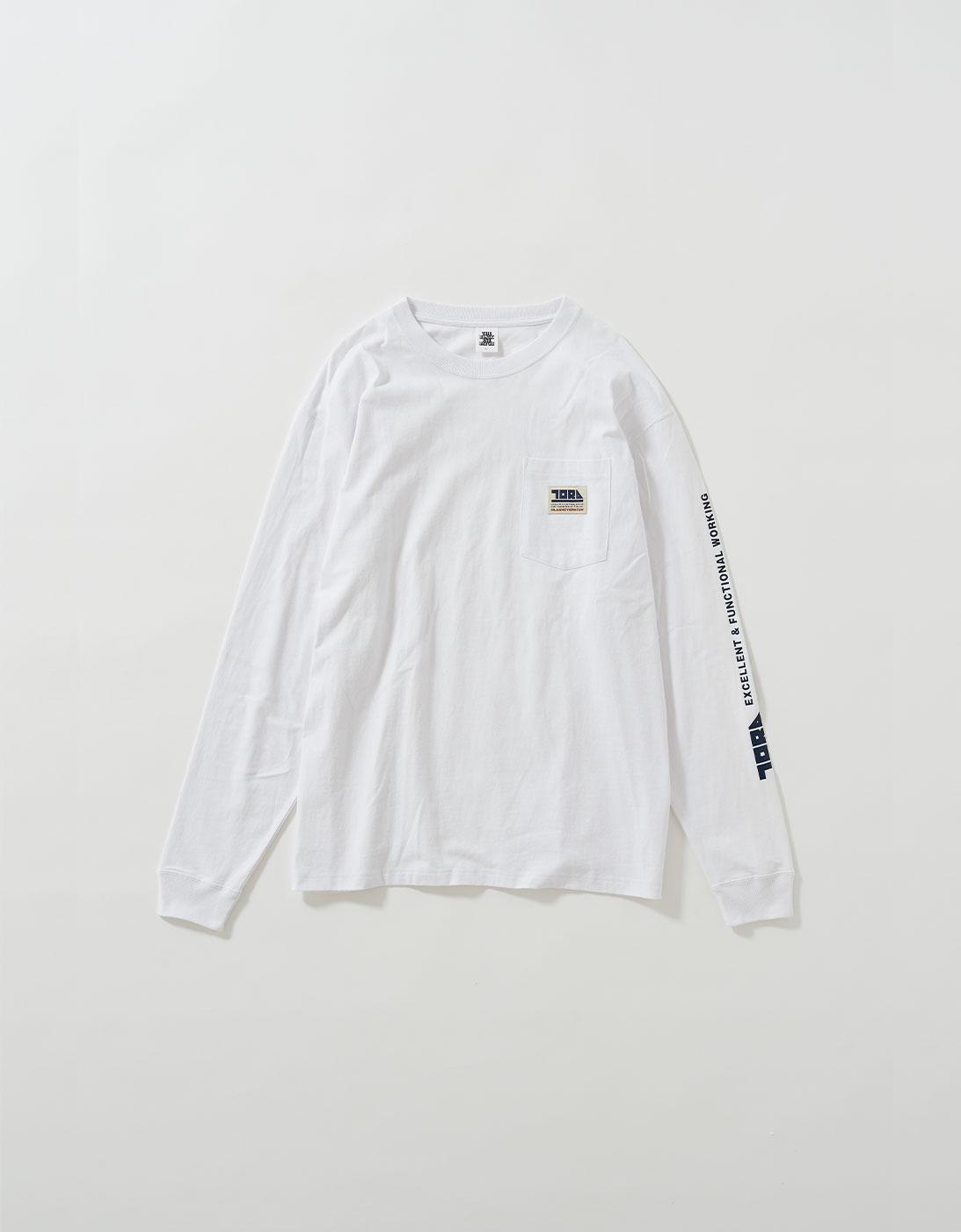 TORAICHI POCKET L/S TEE 1811-617 OFF WHITE (BlackEyePatch & TORAICHI Collaboration)